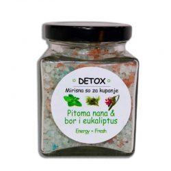 mirisna so, aromaterapija, nana bor i eukaliptus