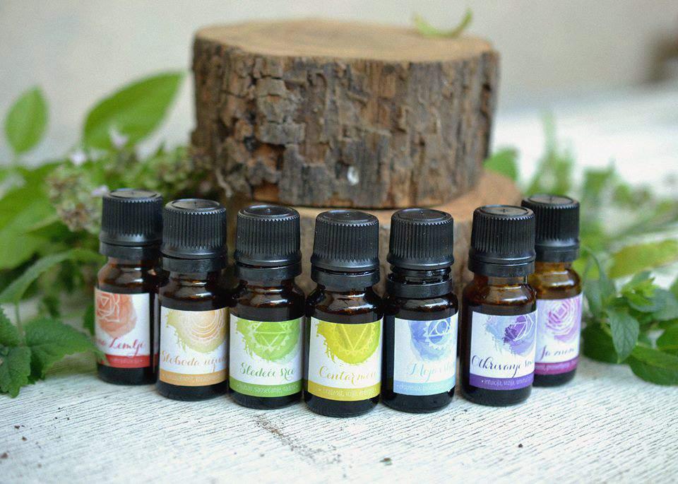 mirisne esencija za čakre, čakra set eteričnih ulja, čakra set etarskih ulja